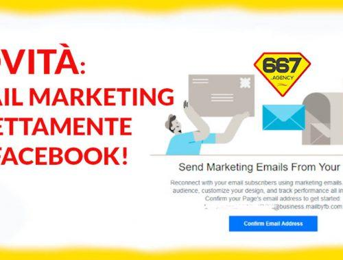 Email Marketing direttamente da Facebook